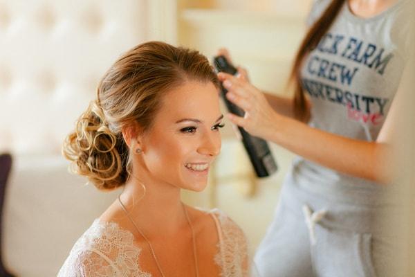 Braut Make-Up und Frisur vom Brautstylist