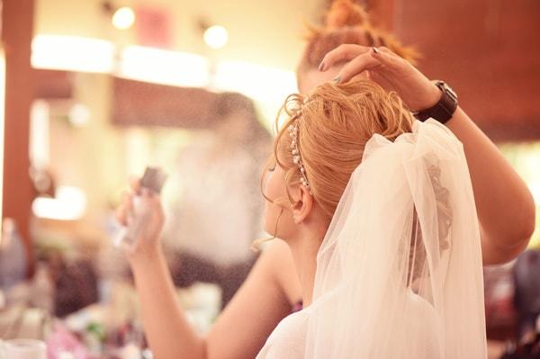Brautstyling Dauer am Tag der Hochzeit und Probetermin