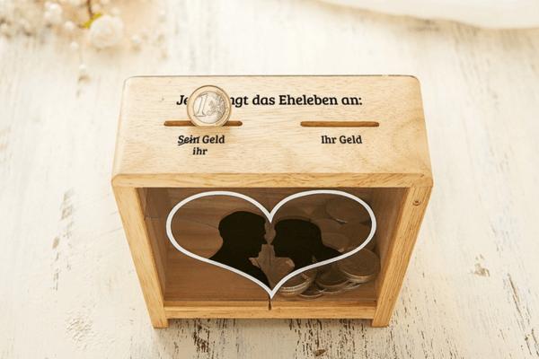 Hochzeit Geschenk - Lustige Spardose