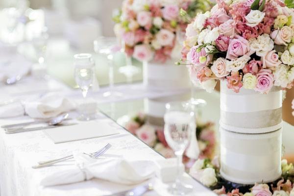 Hochzeitsdeko - Blumendeko zur Hochzeit
