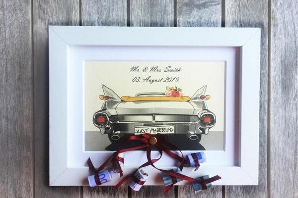 Hochzeitsgeschenk Bilderrahmen Auto