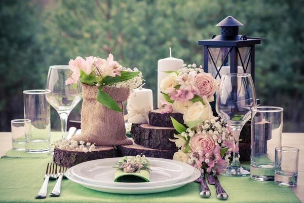 Hochzeitsdeko - Tischdeko für die Hochzeit