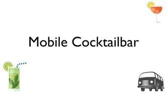 Mobile Cocktailbar als Idee für die Hochzeit Hochzeitsfeier und Party