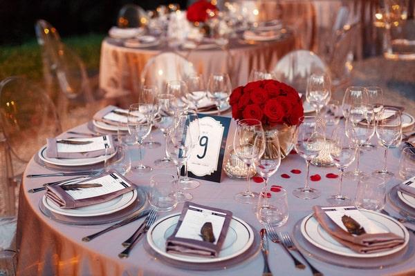 Tischnummern für den Hochzeitstisch