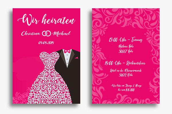 Einladungskarten zur Hochzeit - Hochzeitseinladung